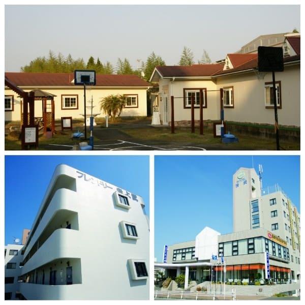 梅田学園自動車学校が使用する3つの共通宿舎