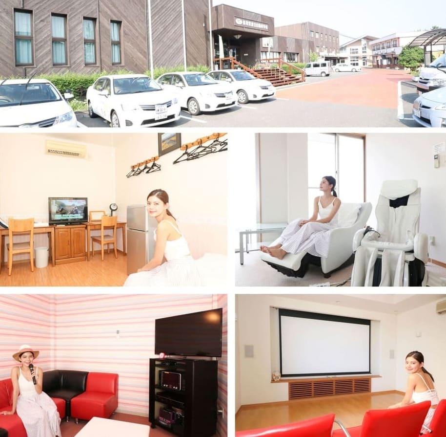 倉吉自動車学校のおしゃれな校舎と宿舎