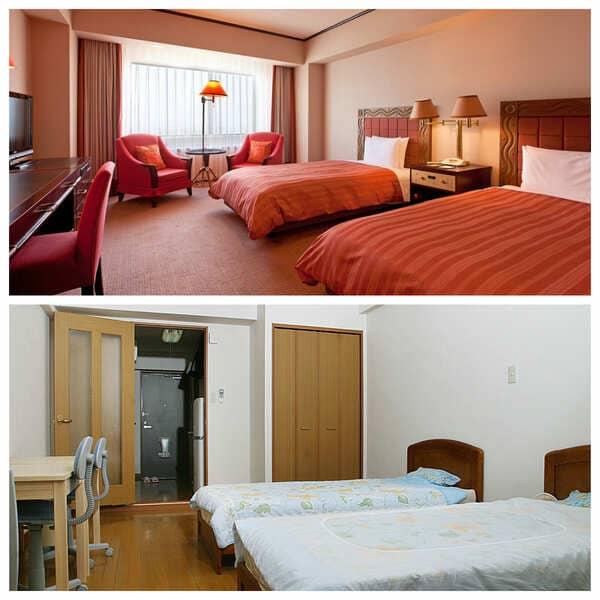 ホテル宿舎と専用宿舎