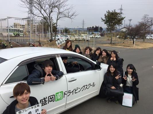 教習車と記念撮影
