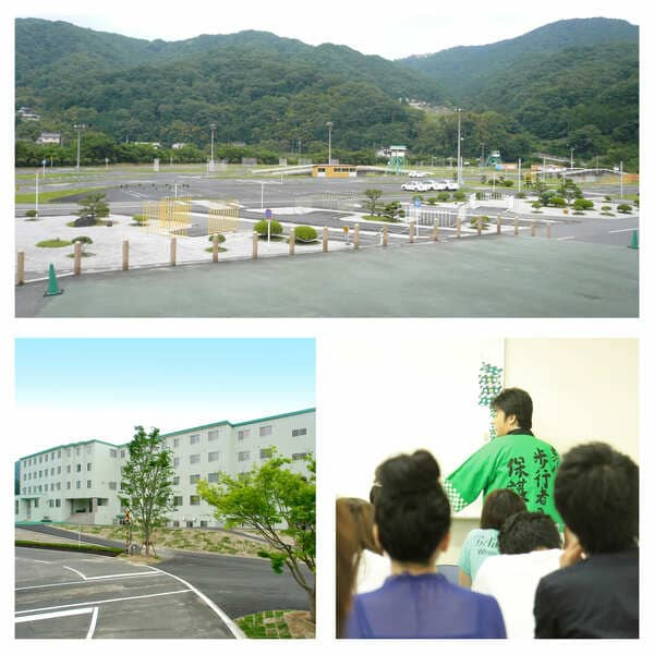 自然に囲まれた教習所と校舎、好評の学科教習