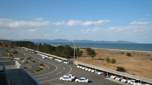 教習所のすぐ横は日本海