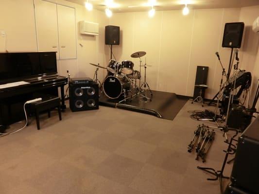 本格的な音楽スタジオ